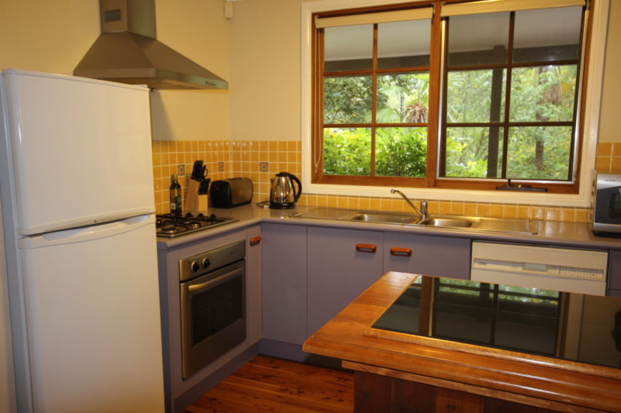 Kitchen with views to garden
