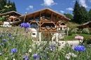 Chalet Elise: front aspect with flowers