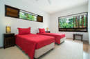 Upstairs 2 x single kings or king bedroom