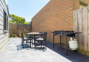 BBQ and outdoor setting