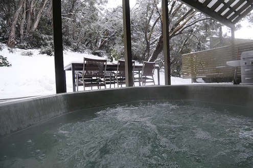fire dreaming outdoor spa thredbo