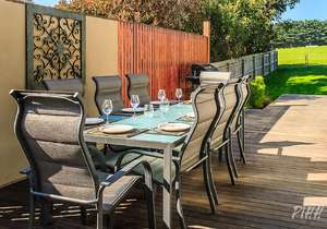 Outdoor dining area...