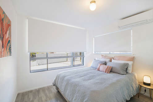 4th Bedroom:  With Air-con, Queen Bed Zips Apart To Make 2 Narrow Singles (downstairs)