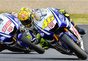 MotoGP action at the track