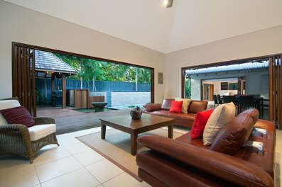 Main family room overlooking outdoor area