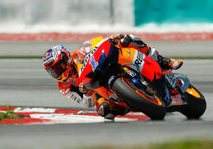 MotoGP action at the track...