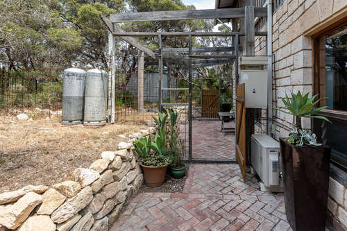 Rear of property - pet enclosure