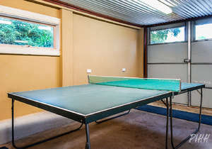 Table-tennis table in garage...