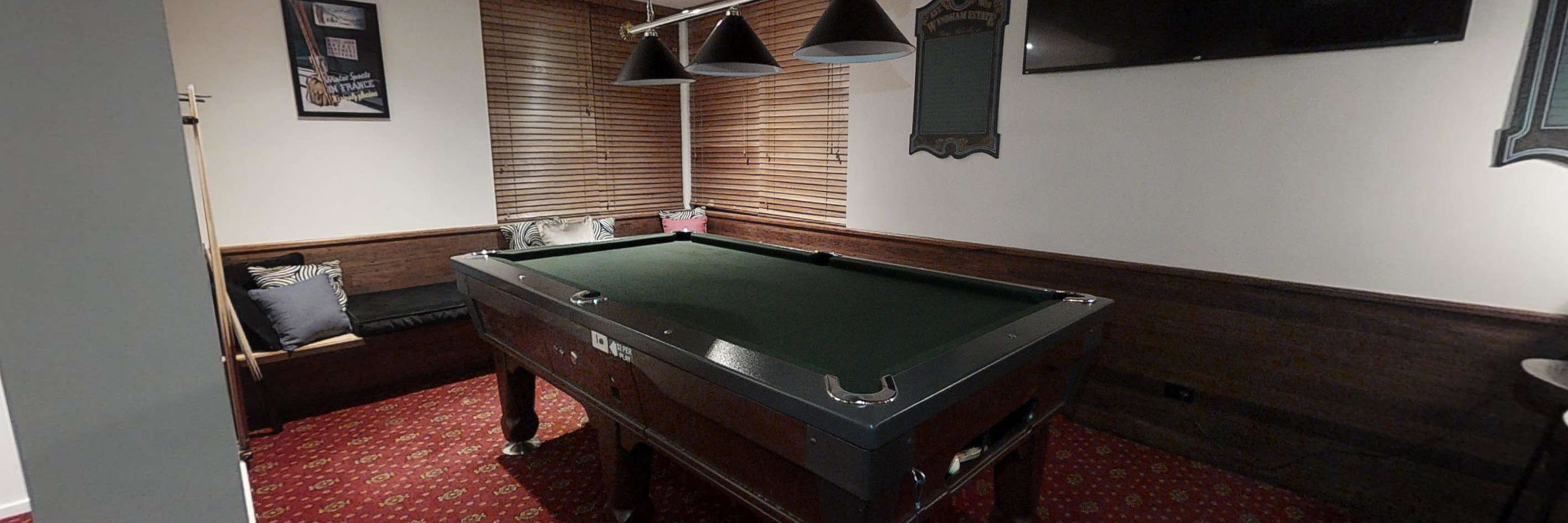 The Stables bar with pool table area