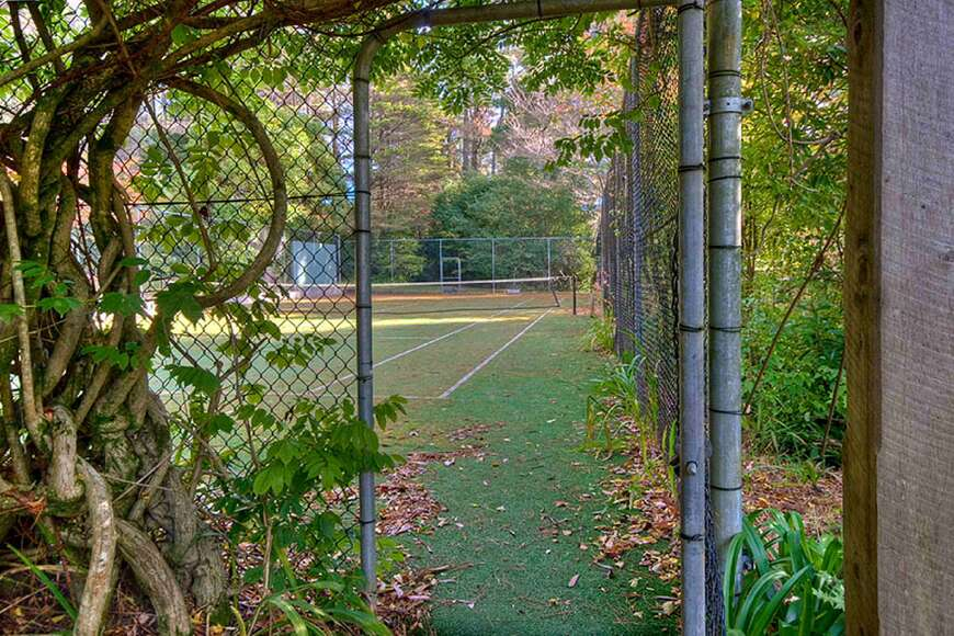 Entrance to the Championship sized tennis court