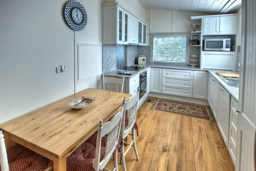 Country kitchen with breakfast nook