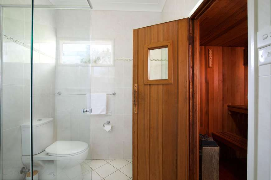 Bathroom and Sauna