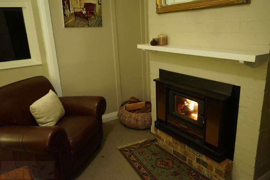 Fireside sitting area