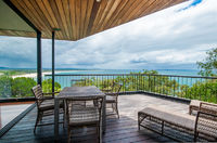 Amazing views of Laguna Bay from the living area deck