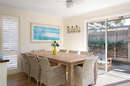 Dining area to entertain family and friends