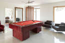 Pool table in downstairs living area