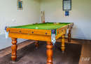 Billiard table in garage...