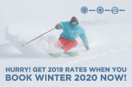 Winter 2020 for 2019 Rates.  Only 10% Deposit