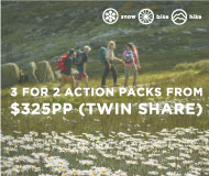 3 for 2 Alpine Adventure Pack from $198pp