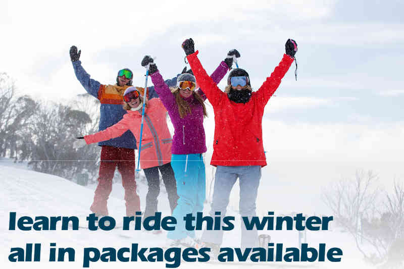 Learn to Ride Packages available for Winter 2019