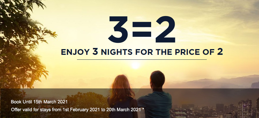 3 Nights for 2 this February